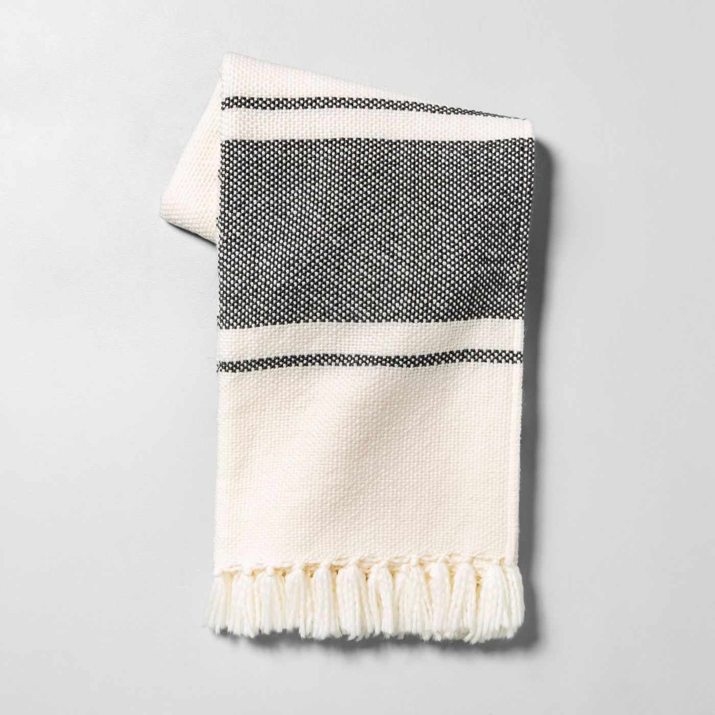 white and gray throw blanket