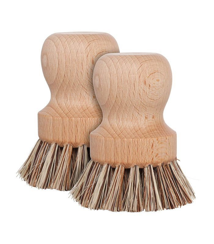 Redecker Natural Fiber Bristle Pot Brush, Set of 2