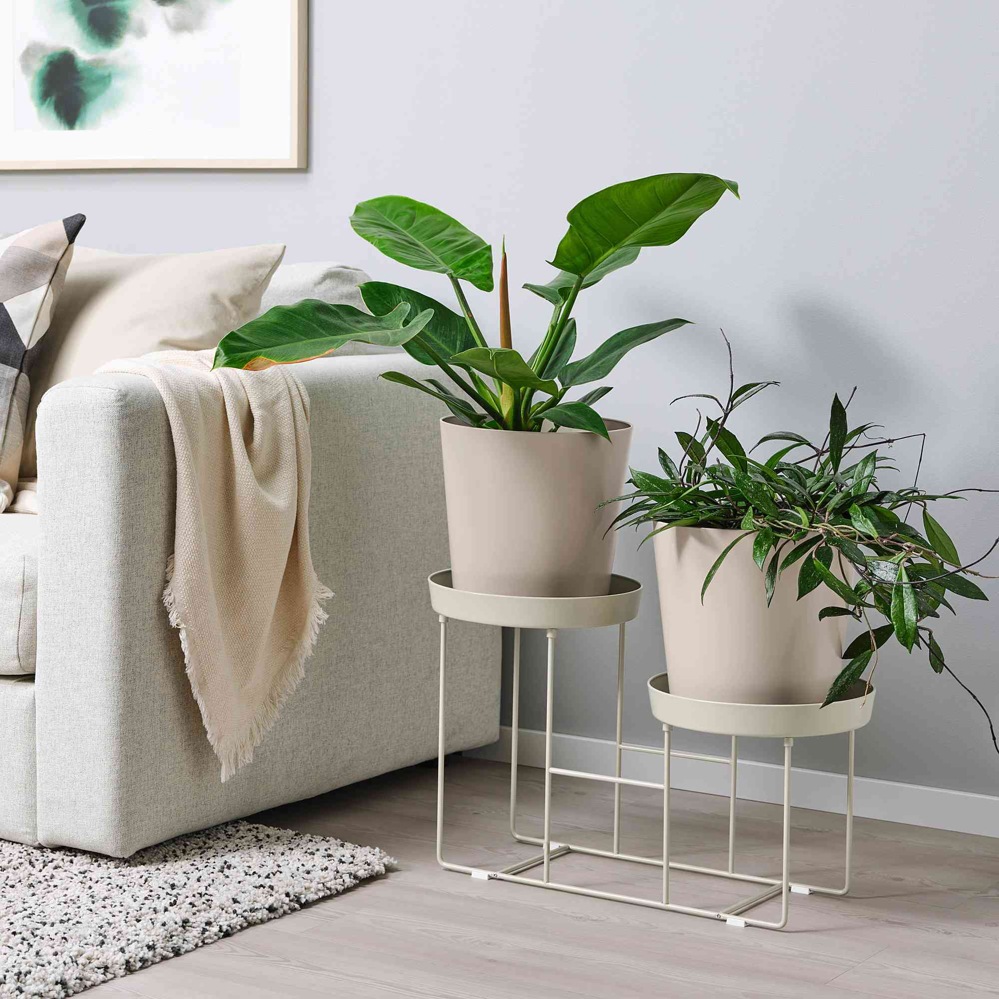 VITLÖK Plant Stand in living room.