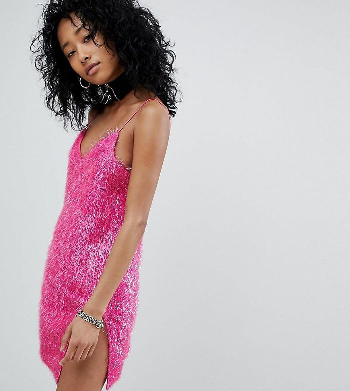 Cami Dress In Sparkle Fabric