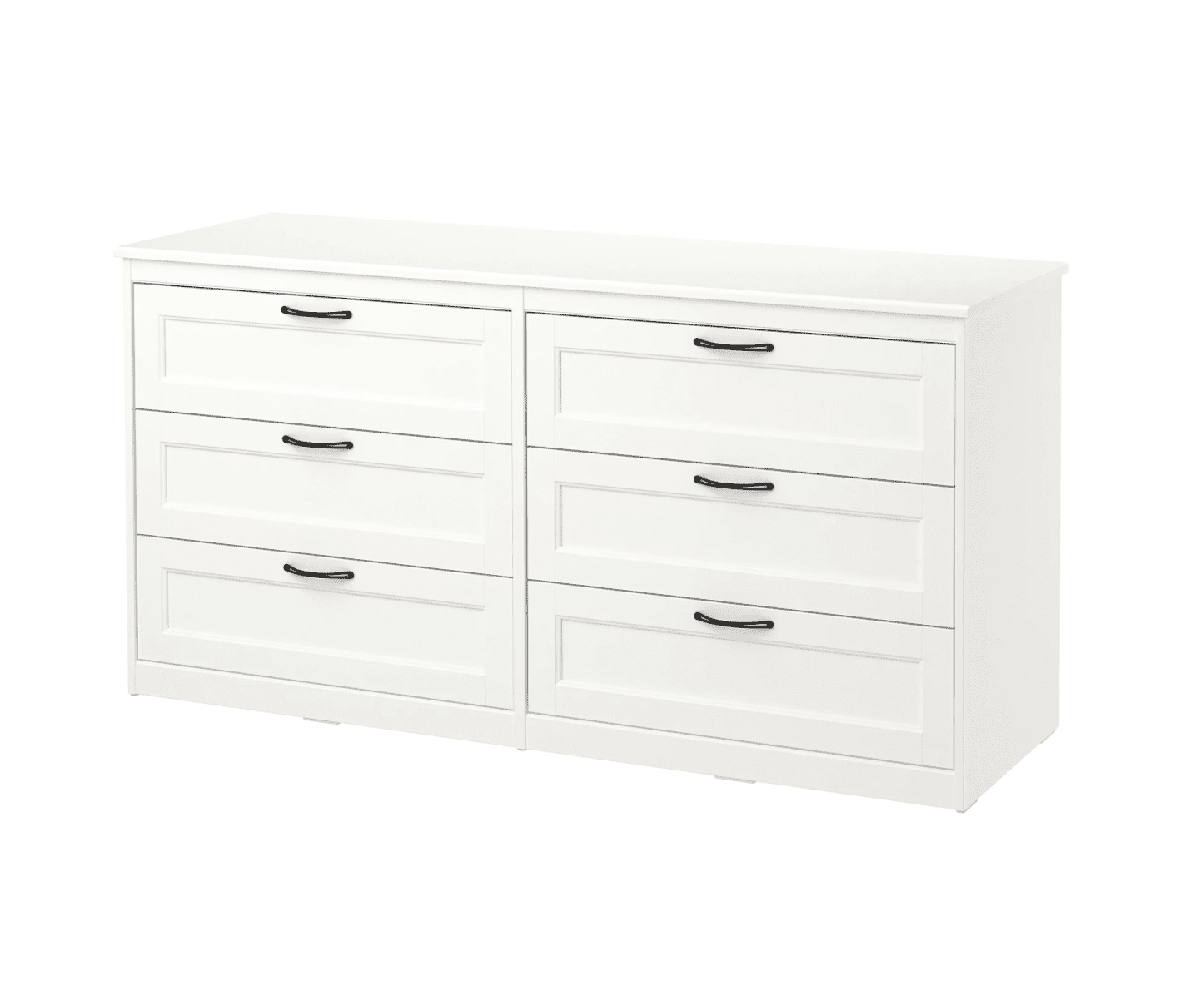 A white, 6-drawer dresser, currently for sale at IKEA