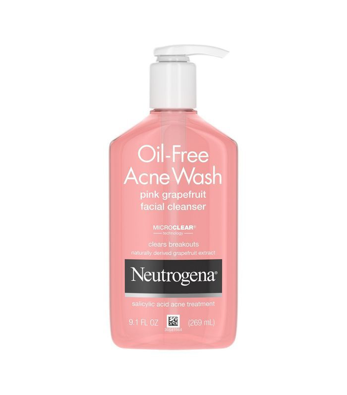 Neutrogena Oil-Free Pink Grapefruit Acne Facial Cleanser Best skincare products for 40 year olds