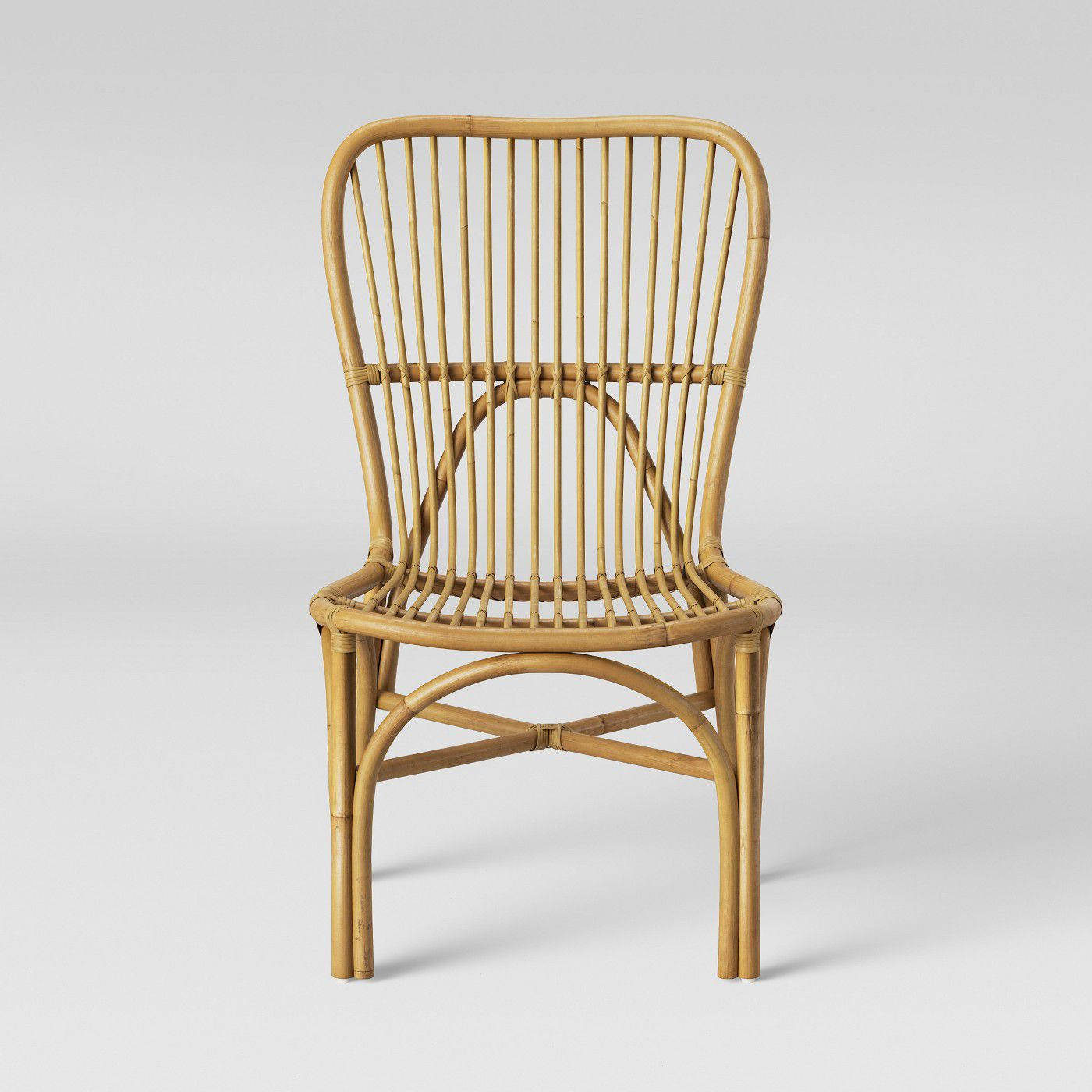 Hazel Rattan Armless Chair