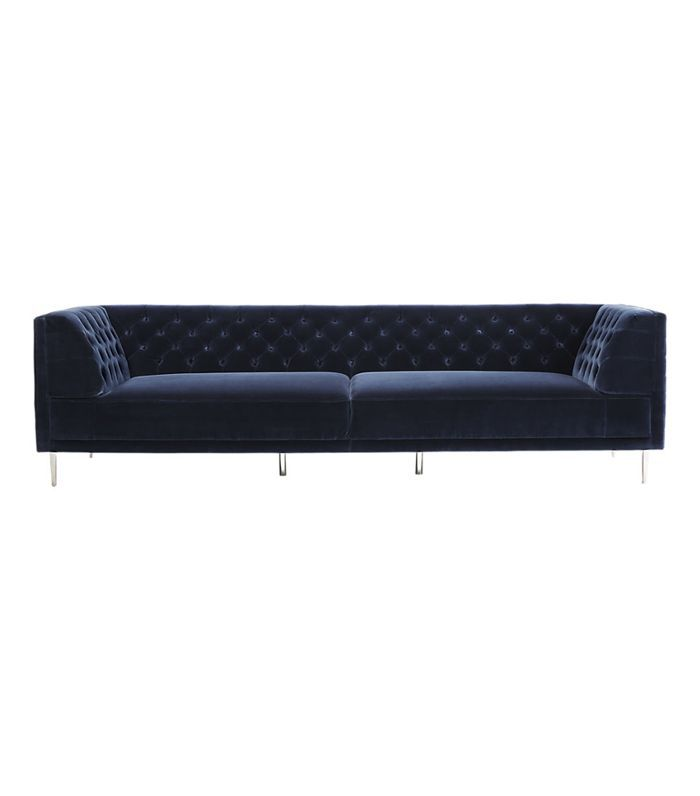 Savile Midnight Blue Velvet Extra Large Sofa