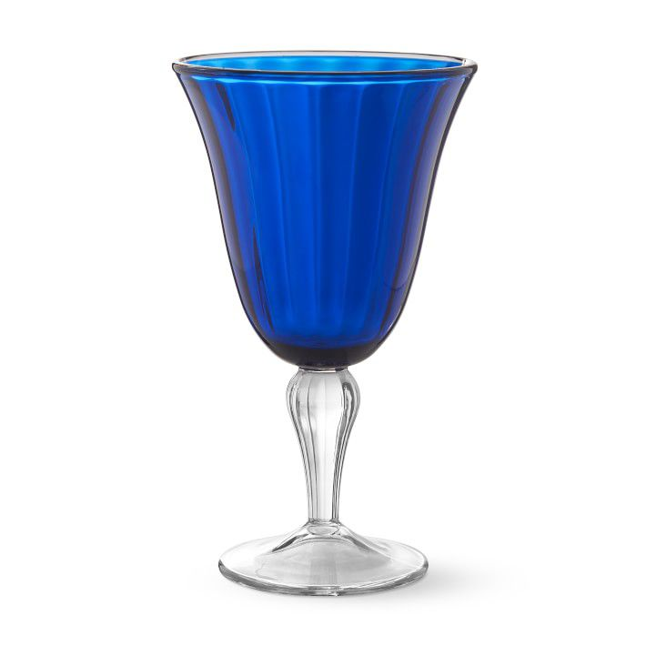 Blue Outdoor Goblets, Set of 4