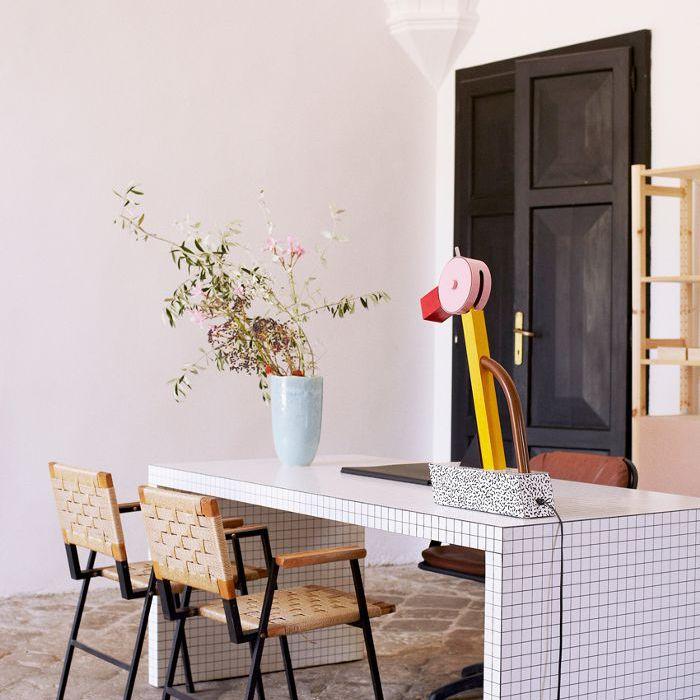 espacio de trabajo de Ettore Sottsass