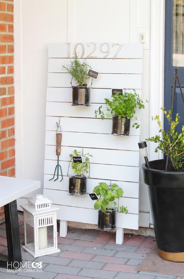 DIY vertical hanging kitchen garden.