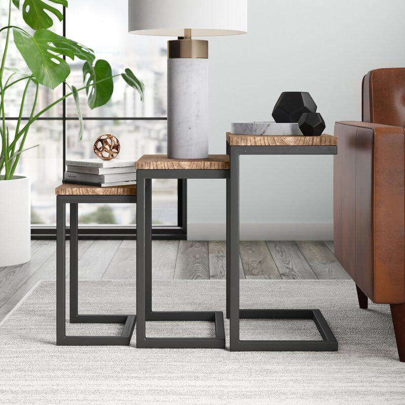 c-shaped nesting table