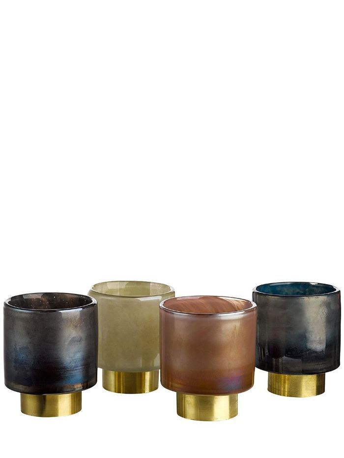 BELT SET OF 4 CANDLE HOLDERS