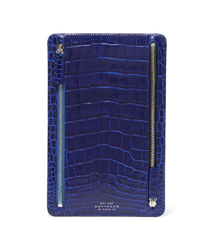 Mara Croc-effect Leather Wallet