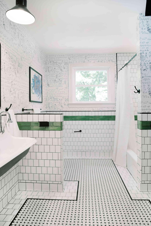 Overview of bathroom.