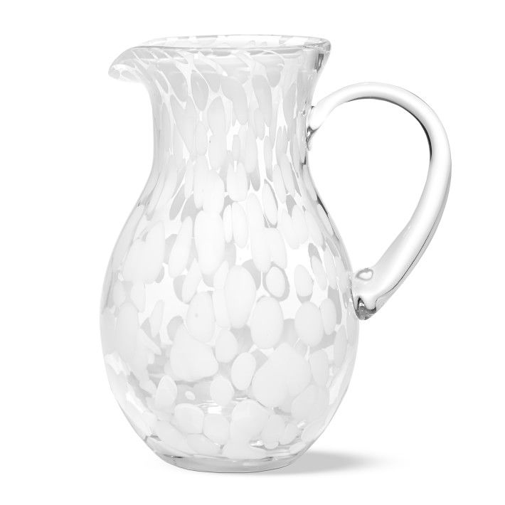 White Confetti Pitcher
