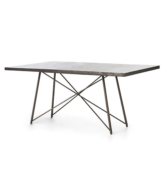 Crate & Barrel Roman Iron Base Dining Table