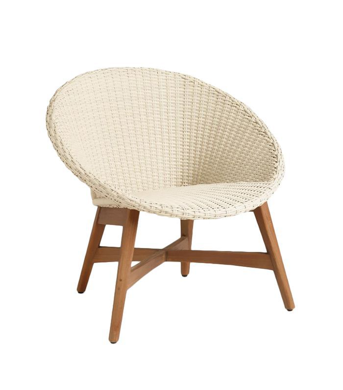 Round All Weather Wicker Vernazza Chairs Set of 2: White