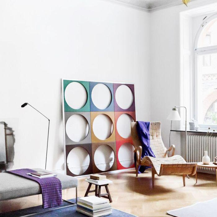 İskandinav tasarımlı bir oturma odası