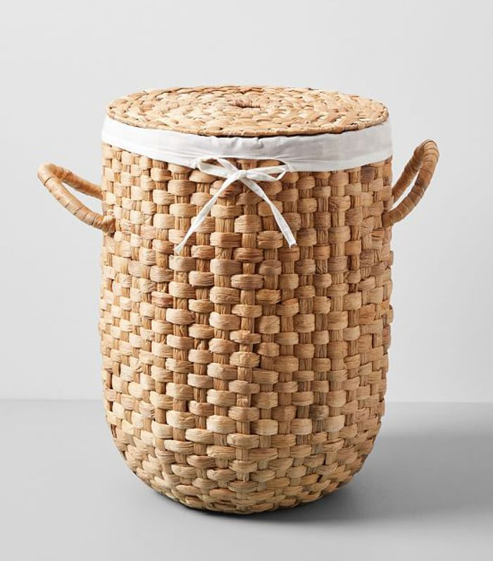 West Elm Round Weave Laundry Basket