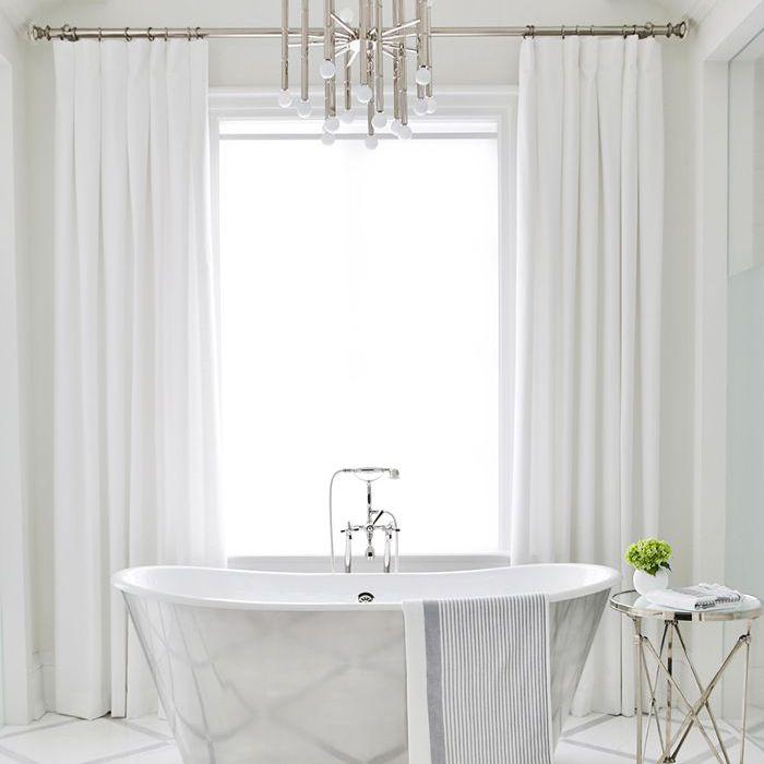 white bathroom—freestanding tub