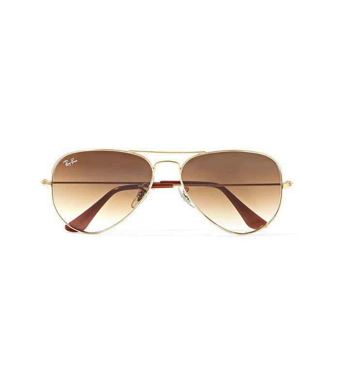 Aviator Gold-tone Sunglasses
