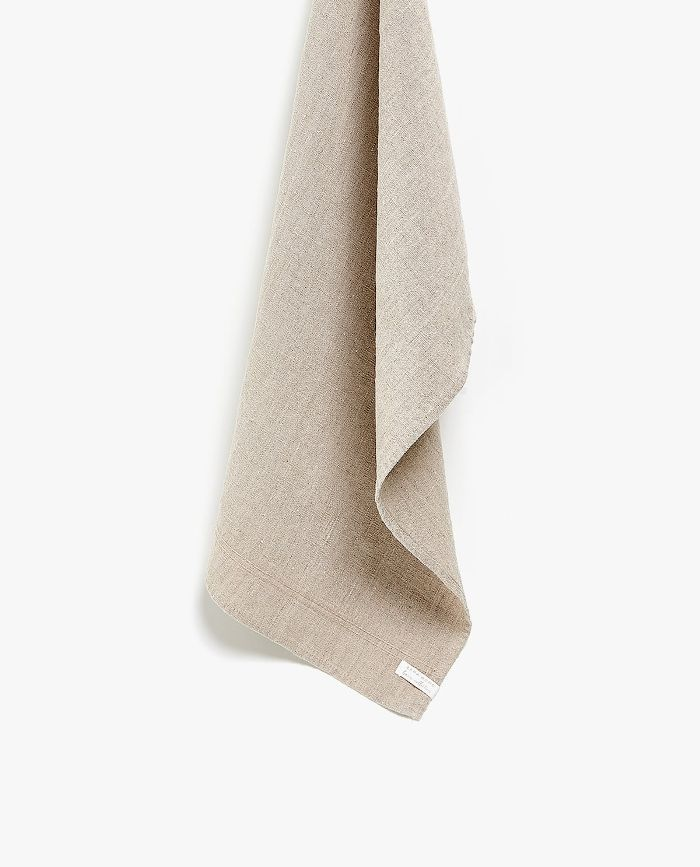 Zara Home Grey Washed Linen Kitchen Towel