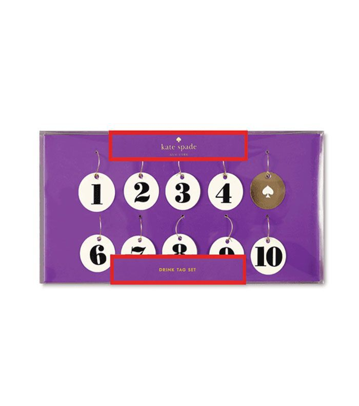 Kate Spade New York Wine Tag Set