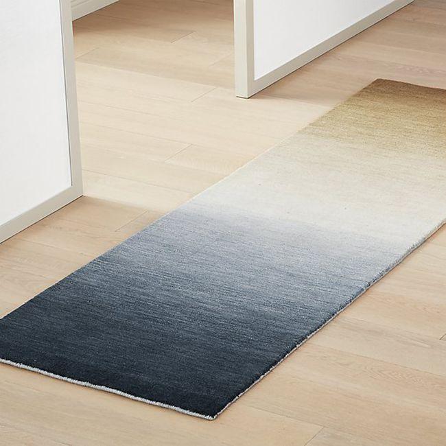 alfombra azul ombre