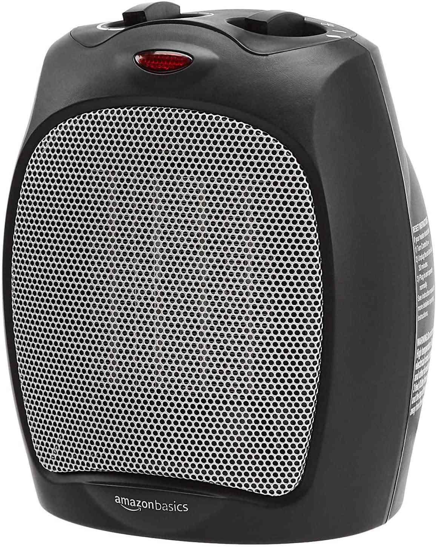 Amazon Basics 1500W Ceramic Personal Heater with Adjustable Thermostat