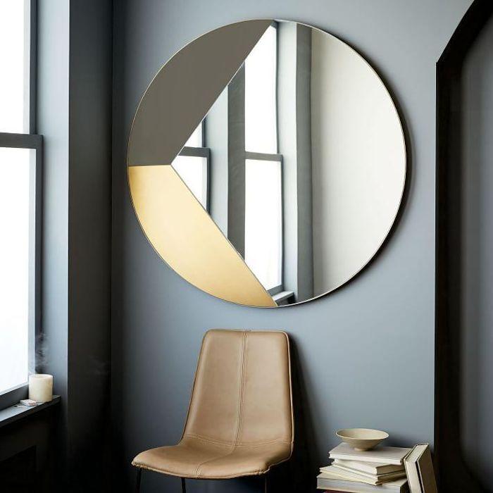 Geo Shapes Oversized Round Mirror