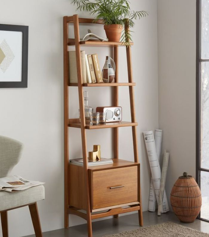 West Elm Mid Century Bookshelf - Narrow Tower