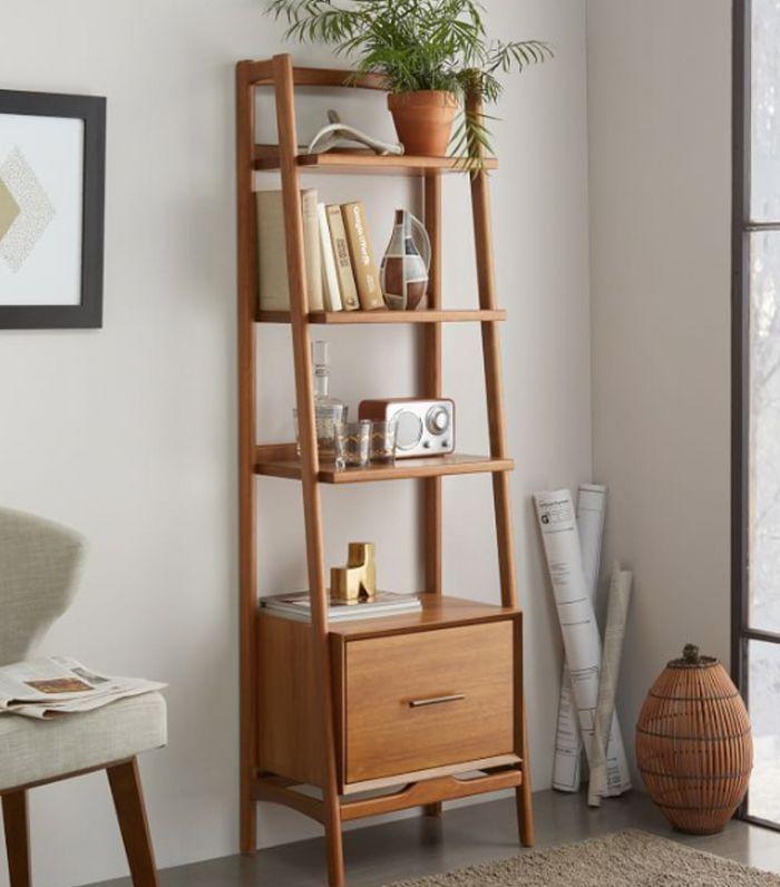 West Elm Mid Century Bookshelf - Narrow Tower