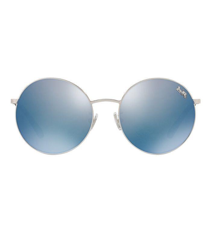 56 Silver Round Sunglasses - hc7078