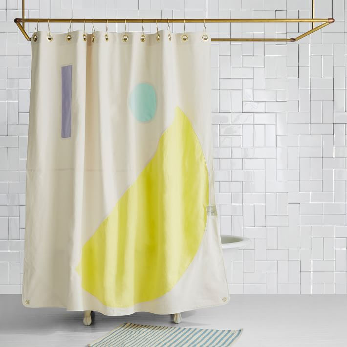 West Elm Quiet Town Beacon Shower Curtain