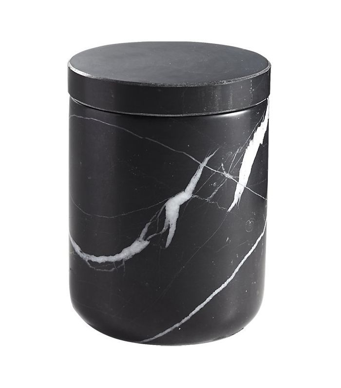Nexus Small Black Marble Canister
