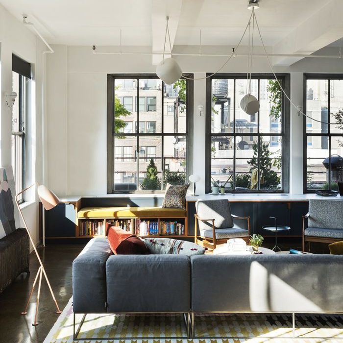 Apartment Lighting Solutions: Various light sources layer a living room