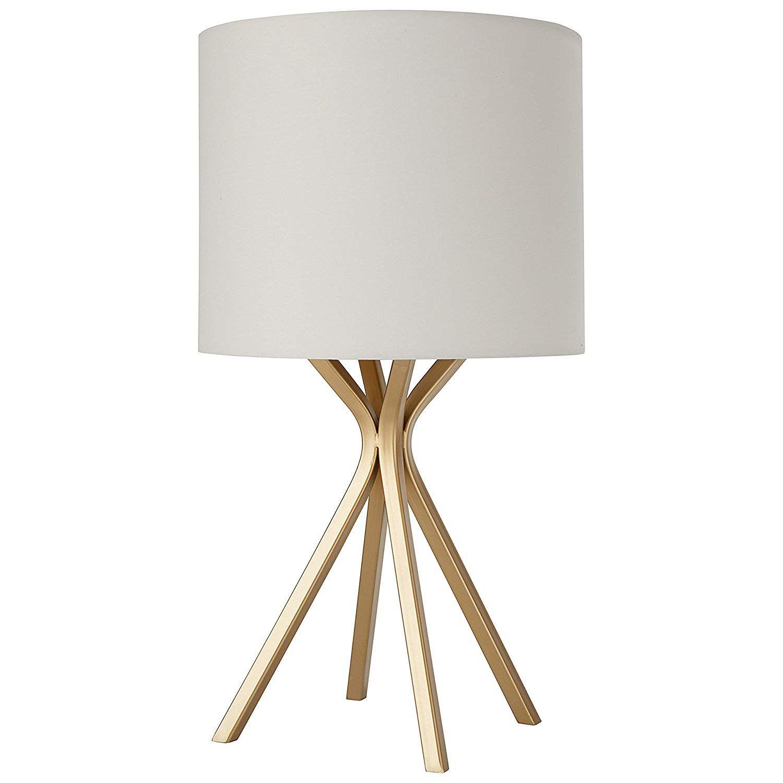 Gold Bedside Table Desk Lamp with Light Bulb