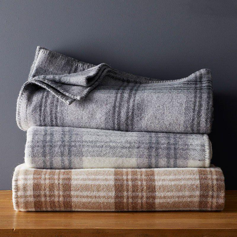 Ledge Plaid Merino Wool Blanket
