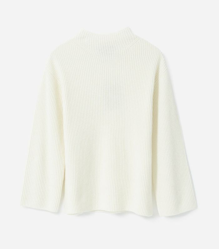 Women's Cashmere Rib Mockneck Sweater by Everlane in Ivory, Size XL