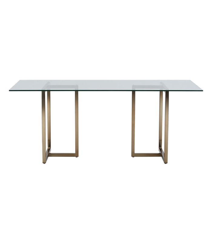 CB2 Silverado Brass Rectangular Dining Table