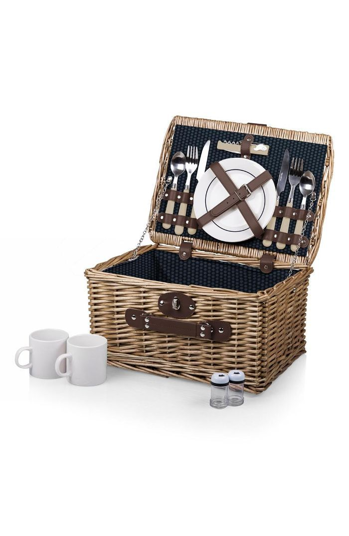 'Catalina' Wicker Picnic Basket Daytime Date Ideas