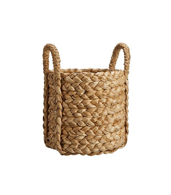 Pottery Barn Beachcomber Round Handled Basket