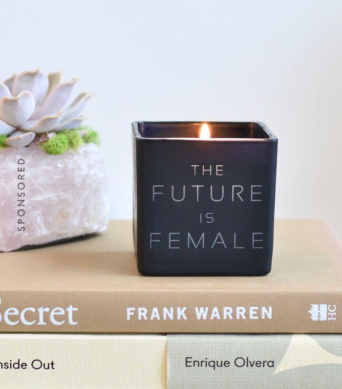 Taja Collection Future Is Female Candle (Midi)