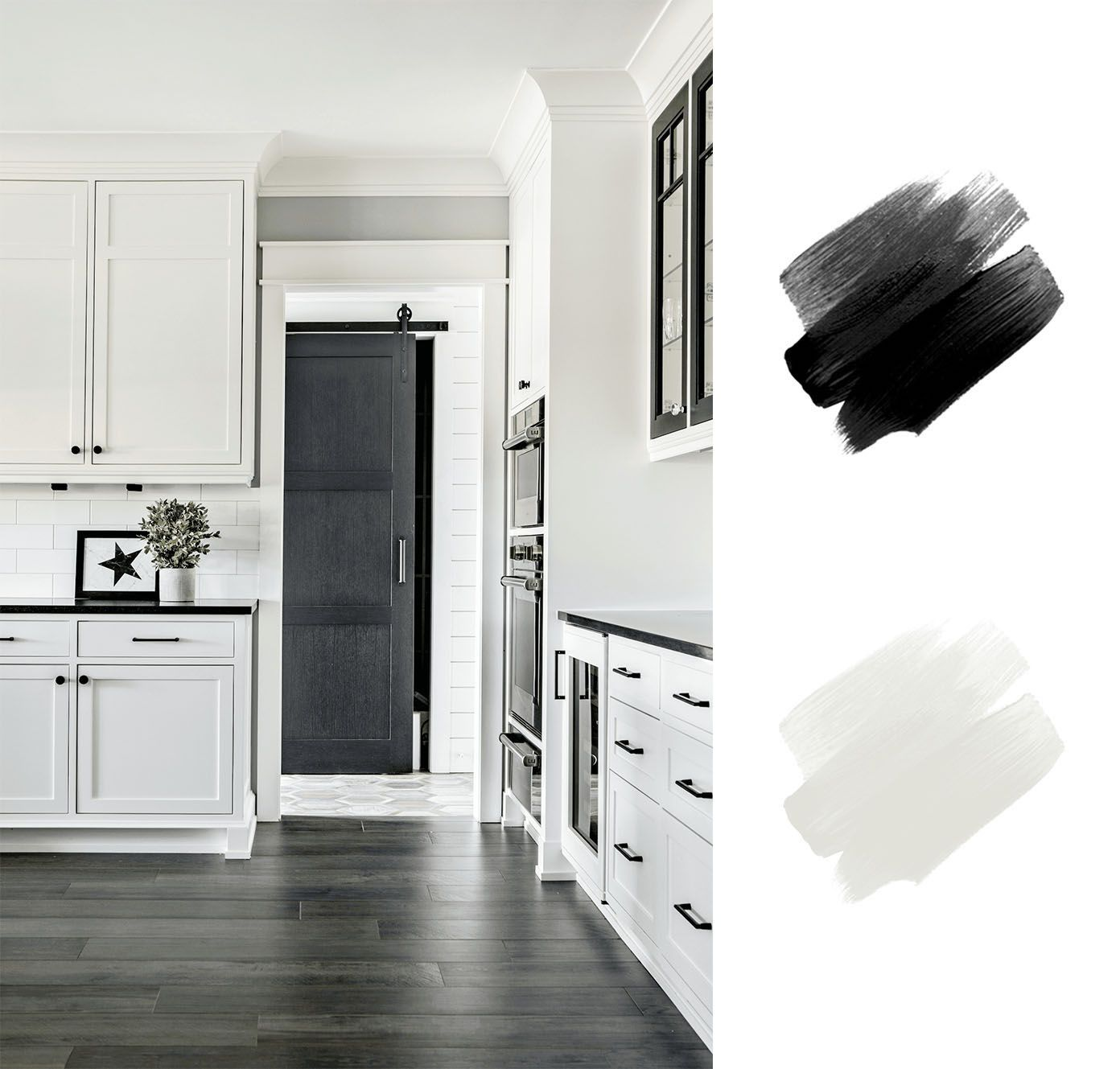 best interior color schemes - black and white