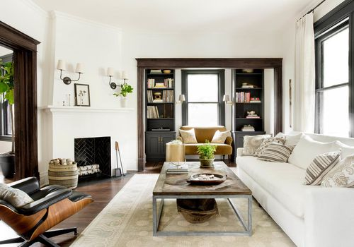 Bright, airy living room with a chic vintage feel.