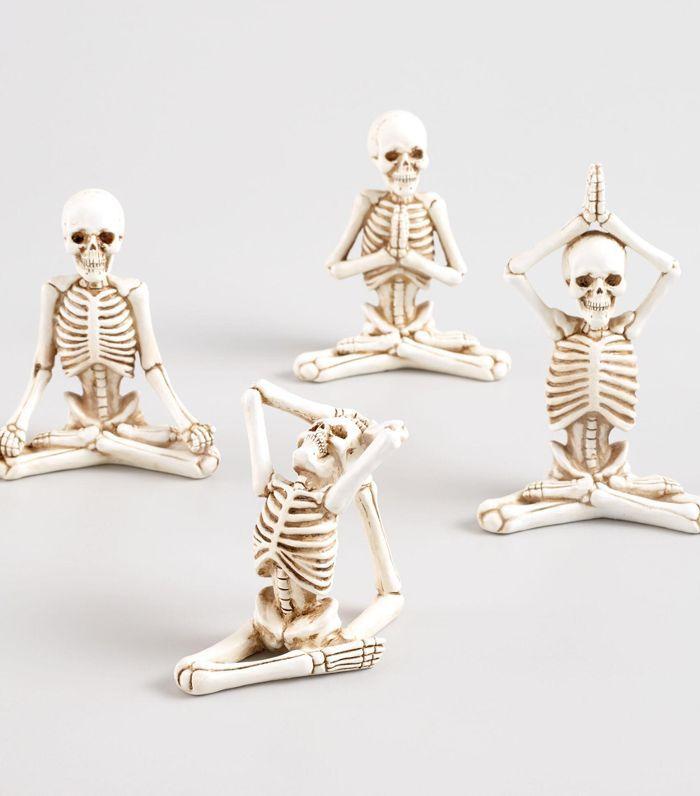 Yoga Skeleton Decor Set of 4 by World Market