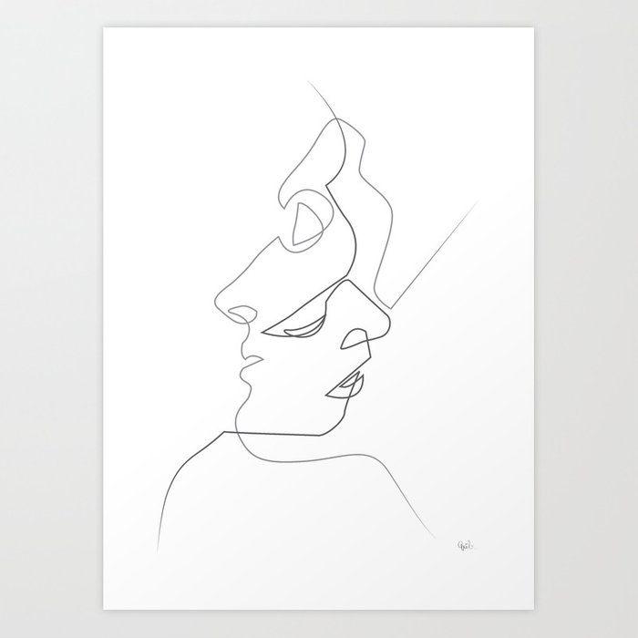 Close on White Art Print