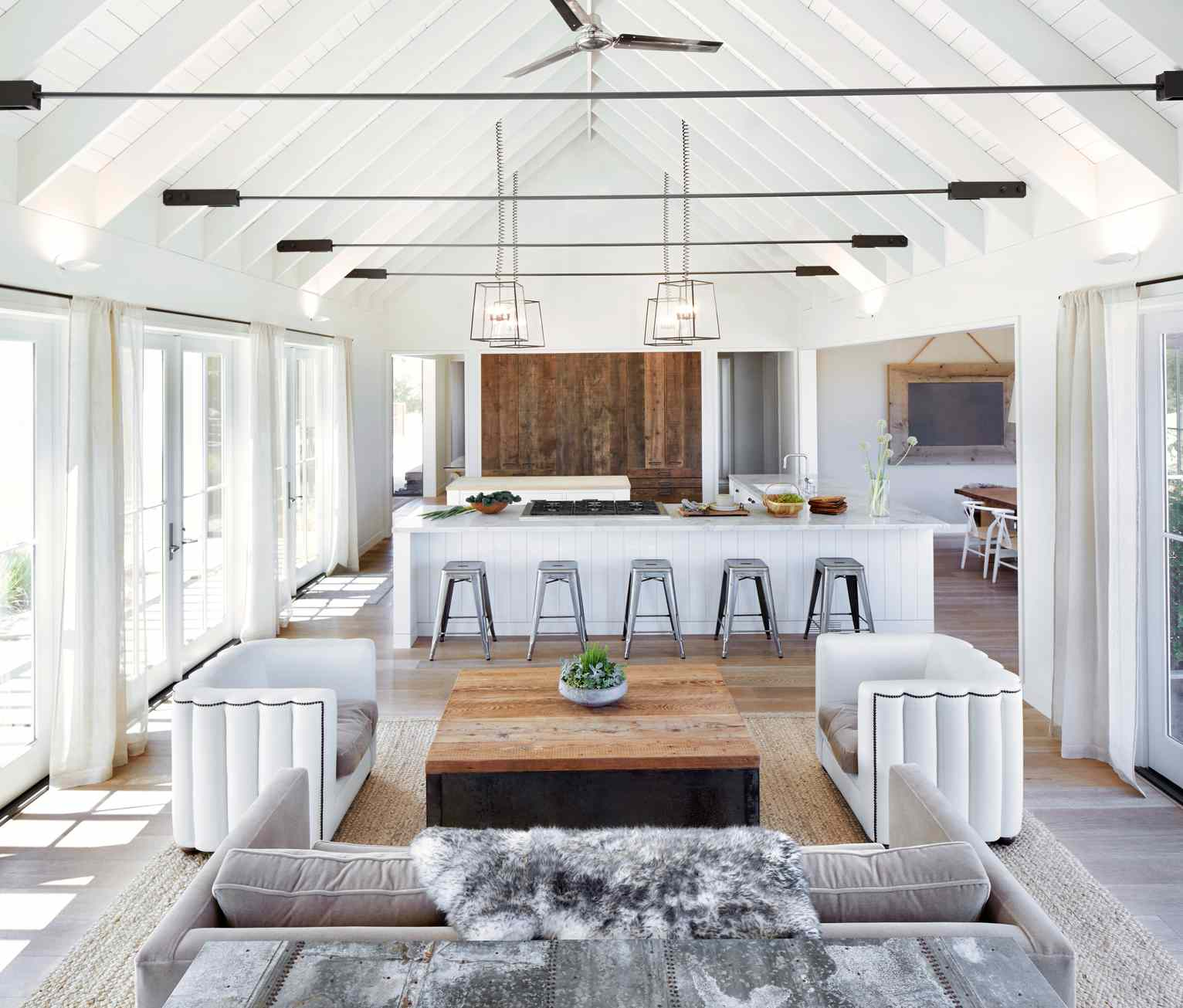 open plan living room and kitchen