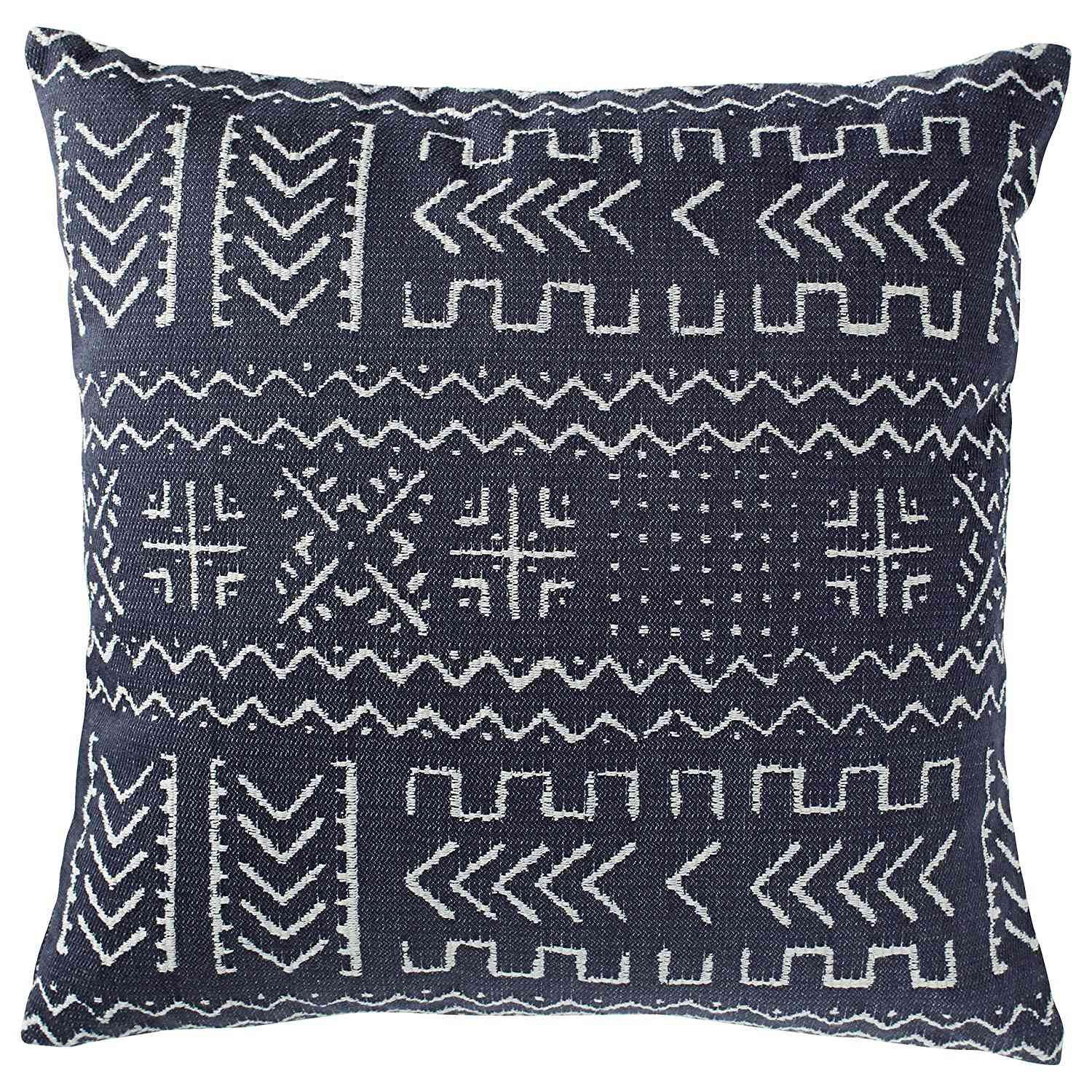 Mudcloth-Inspired Decorative Throw Pillow