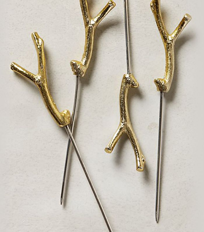Anthropologie Branch & Twig Cocktail Picks, Set of 4