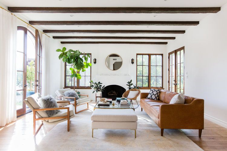 how to clean a leather couch - leather couch in california cool living room