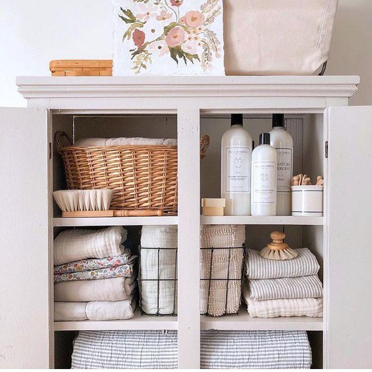 cabinet linens