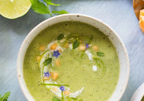 Sopa fría de pepino y melón